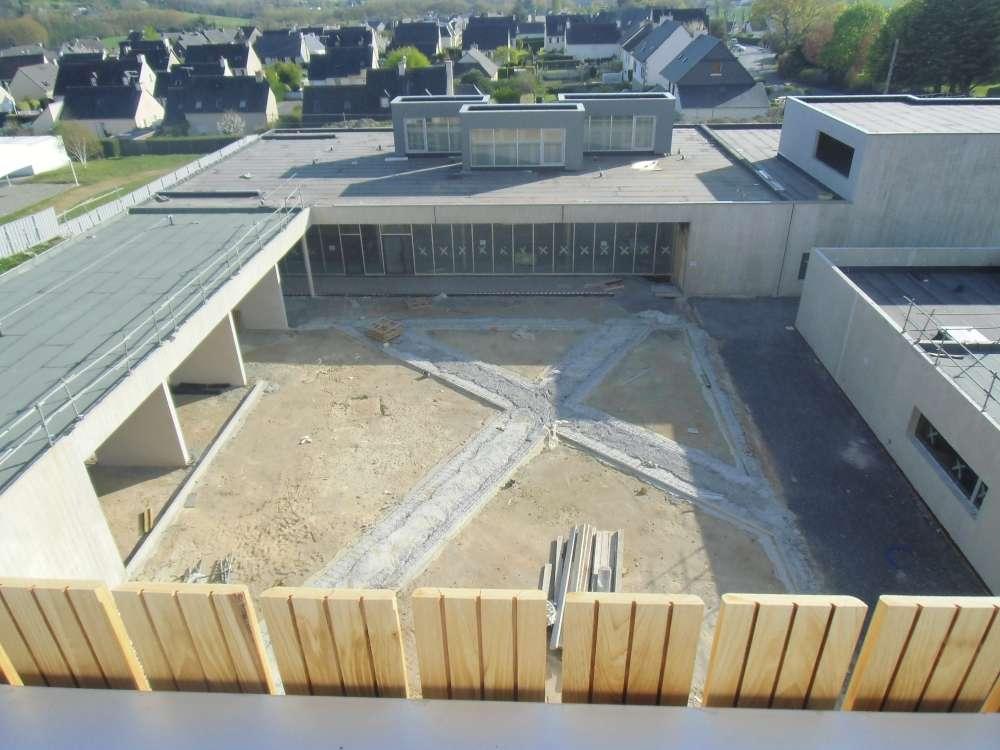 Le patio vu du toit